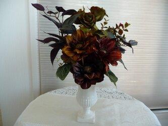 sold  バラとガーベラの秋色のアレンジの画像
