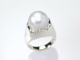 白蝶パールリング 12.5㎜珠の画像