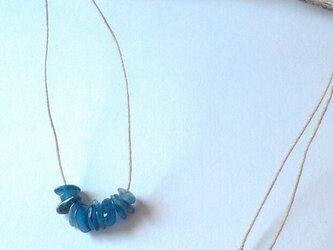 ヘンプネックレス  カイヤナイトの画像