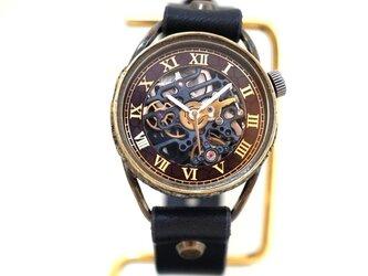 メカニックブラック AT ブラック Mサイズ 真鍮 手作り時計の画像