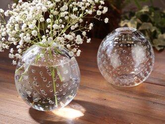 「小さな泡の花器(L)」泡のみずたま カスミソウ 水玉模様 一輪挿し 贈り物 プレゼントの画像