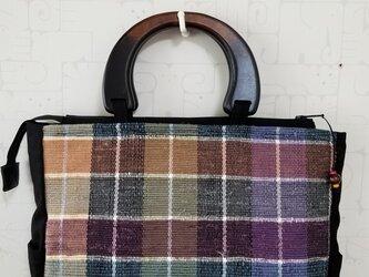 裂き織り×帆布 トートバッグの画像