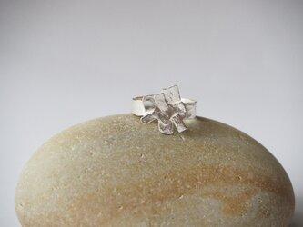 rectangle  シルバー フリーサイズリング silver925 ◼pivo◼953の画像