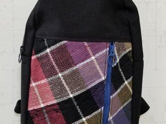 裂き織り×帆布  ワンショルダーバッグの画像