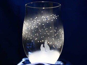 【青い天の川へ】猫モチーフのタンブラーグラス(vol.6)の画像