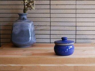 1600年創業 13代目職人 加藤さんのつくる甕(かめ)1合・青(蓋物・漬物入れ・調味料入れ)梅干し約7個ほど入りますの画像