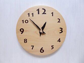 ヒノキの時計 30センチ 115s 文字盤茶色の画像