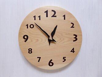 ヒノキの時計 30センチ 117s 文字盤茶色の画像
