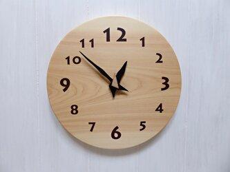 ヒノキの時計 26センチ 123s 文字盤茶色の画像