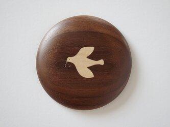 *受注製作品* 象嵌の手鏡 鳥〈おまけのポーチ付き〉の画像