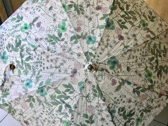 リバティ・・ボタニカル柄の日傘の画像