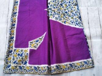 アフリカ布でワンピースの画像