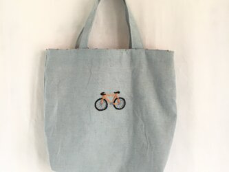 トートバッグ  自転車の画像