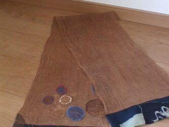 シャボン玉いっぱい蚊帳ストール 麻とメリンスの画像