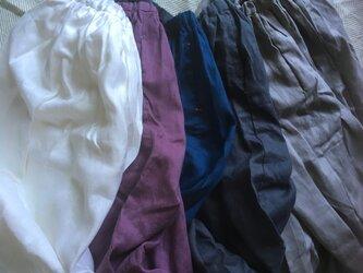リネン ギャザースカートの画像