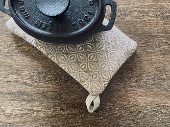 [再販]手織り タテ長ポットマット ブラウンの画像