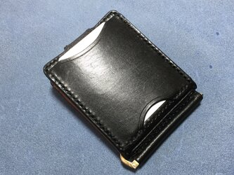 巾85mmフラットになるマネークリップ カード5ポケット+マルチポケット 札ばさみ MC-10p5 ヌメ革の画像