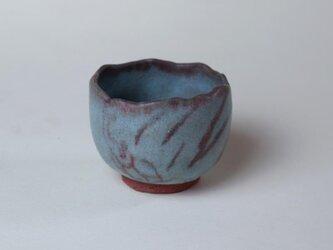 青磁のカブト虫の湯飲み /陶器 /茶器/ 可愛いカップ/ 青い器/ 手びねり/ 陶芸家が作る愉しい器の画像