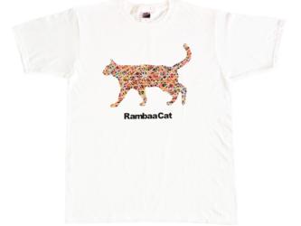 【受注生産】おしゃれなランバーキャットオリジナルTシャツ(白)の画像