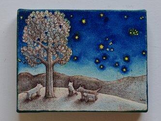 ラサの星空3(原画)[original drawing]の画像