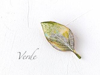 木の葉のブローチ(野色)の画像