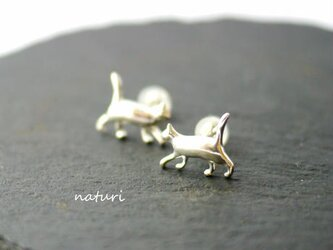 【gatto】sv925 cat pierce (2pcs)の画像