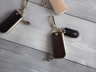 スマートキーケース 真鍮フック【受注製作】の画像