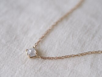 Baby Square Necklace/ Silky Greyの画像