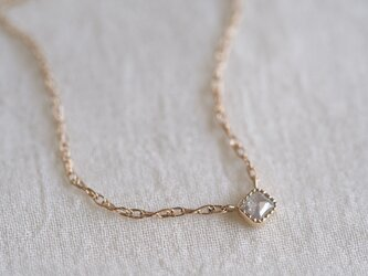 Baby Square Necklace/ Silver Mistの画像