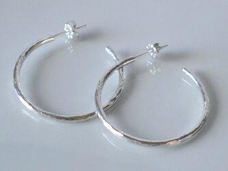 再販★Simple half hoop pierce(sv)の画像