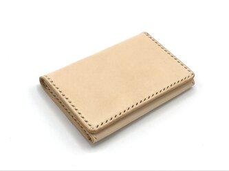 名刺入れ/カードケース ヌメ革:ナチュラル【選べるステッチカラー】(r200)の画像