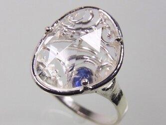 クォーツとサファイアの指輪 * Quartz and Sapphire Ringの画像