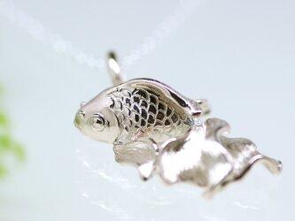 金魚(上見)/ピンクシルバーペンダント/pinksilver/40cmAJチェーンの画像