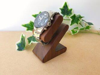 KATOMOKU 腕時計スタンド ウォールナット KM-103WA 削り出しの画像