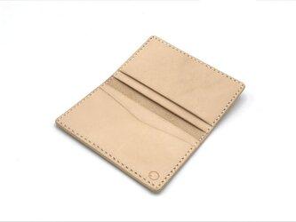 パスカードケース ヌメ革:ナチュラル【選べるステッチカラー】(r203)の画像