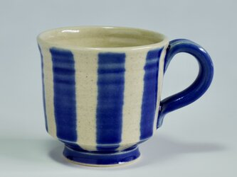 ストライプデミタスカップ  青の画像