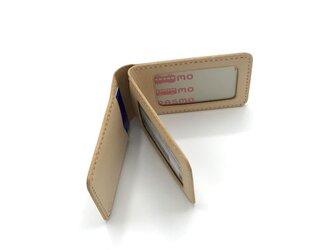 IDパスケース ver.4 ヌメ革:ナチュラル【選べるステッチカラー】(r208)の画像