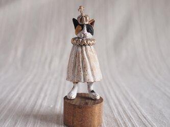 受注制作 いつかの王子様 三毛猫 塑像の画像