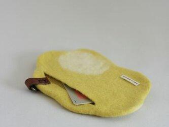 「雲のカタチ」のカードケース(黄色)の画像