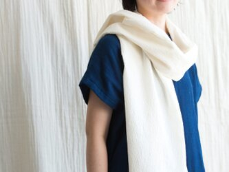 日除け&冷房対策 Organic Cotton シルク混ちりめん生地ストール【52㎝幅】の画像