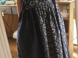 T様専用 身幅広め 久留米絣ノースリーブワンピースの画像