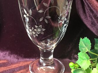 クレマチスのグラス〜手彫りガラス〜の画像