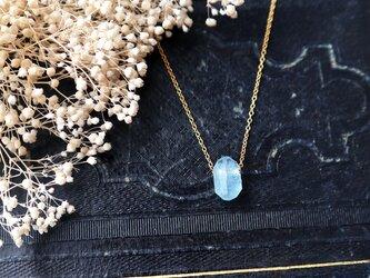 【14kgf】宝石質アクアマリンの一粒ネックレスの画像