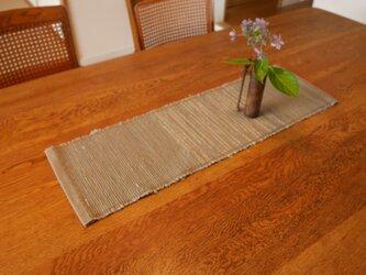 裂織 テーブルランナー 絹  ☆送料無料【031】の画像