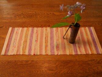 裂織 テーブルランナー 草木染  ☆送料無料【032】の画像