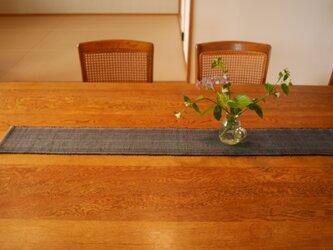 裂織 テーブルランナー 藍   ☆送料無料【045】の画像