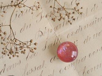 チェコ製ガラス《ドラゴンブレス》の帯留◎ピンク【送料無料】の画像
