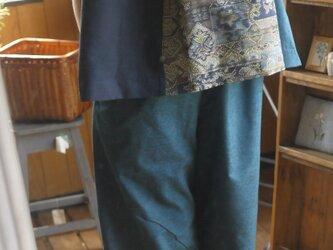 正絹紬からセットアップの画像