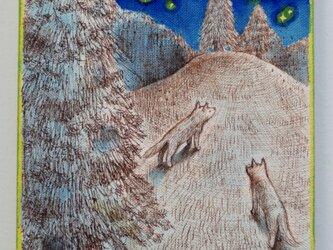 丘の上へ(原画)[original drawing]の画像
