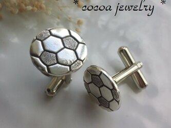 サッカーボールのカフスボタンの画像